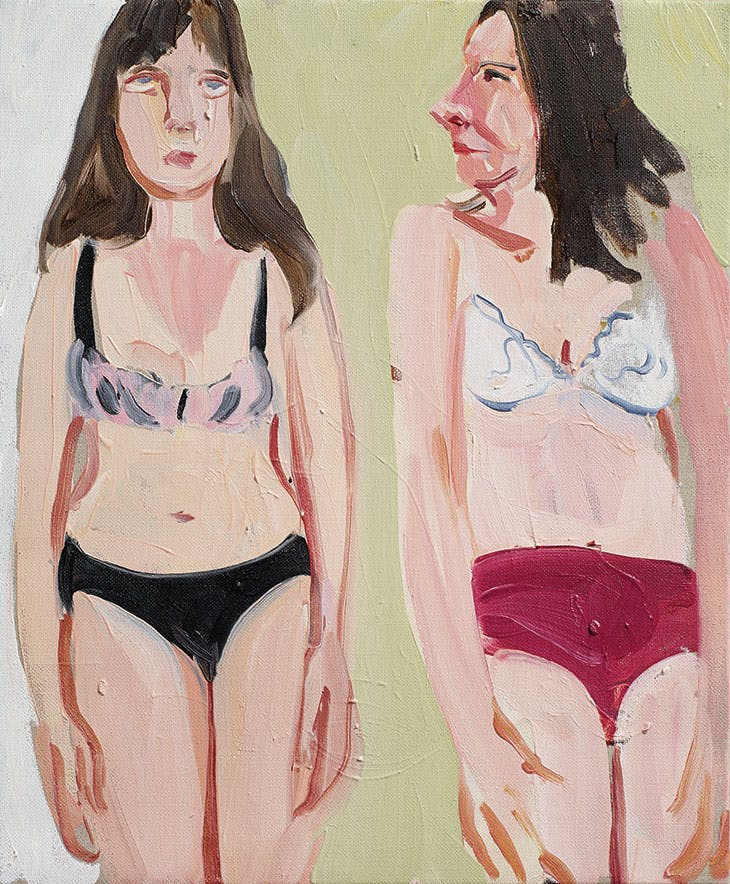 Self-Portrait with Ishbel (2014), Chantal Joffe.