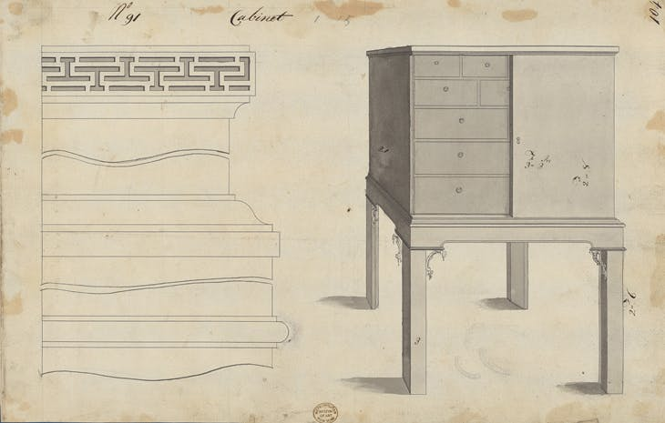 Design for a Cabinet, from Chippendale Drawings, Vol II.