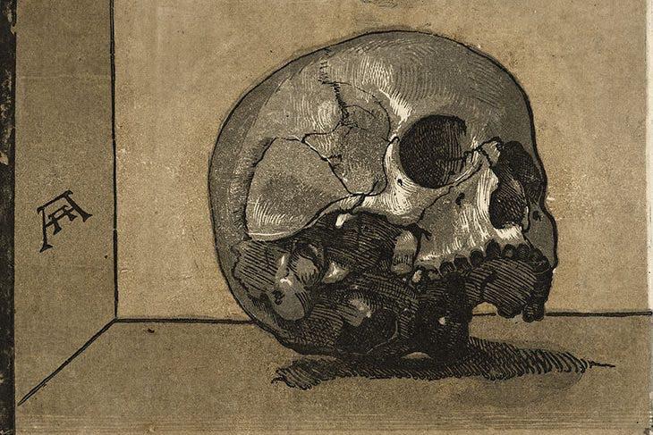 A Skull, Andrea Andreani