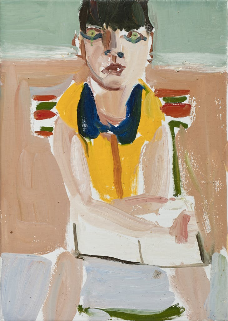 Esme in a Yellow Dress, Chantal Joffe