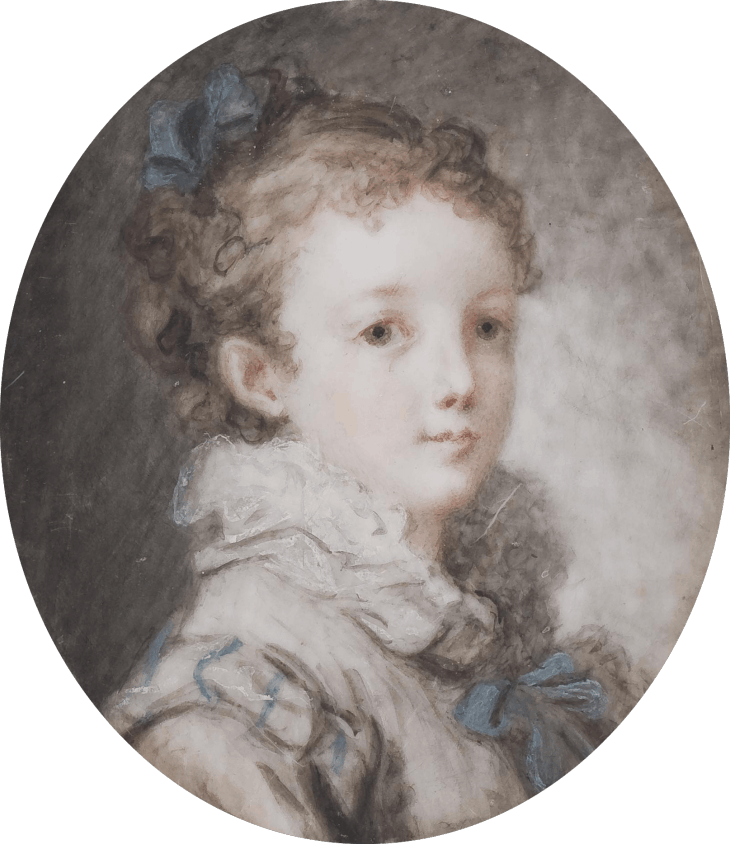 Bust-Length Portrait of a Young Girl, Marie-Anne Fragonard