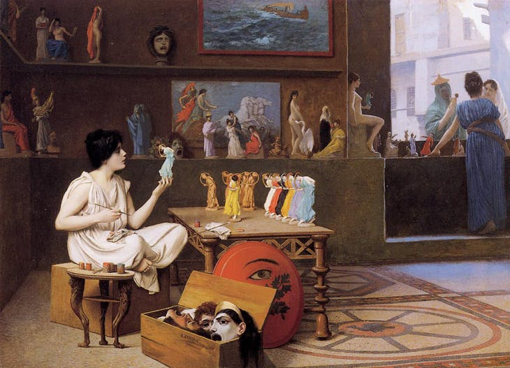 In Painting Breathes Life into Sculpture (Sculpturae vitam insufflate picturae) (1893), Jean-Léon Gérôme. Art Gallery of Ontario.