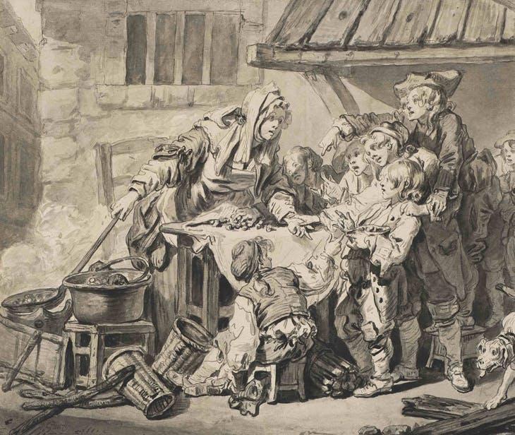The Chestnut Vendor, Jean-Baptiste Greuze