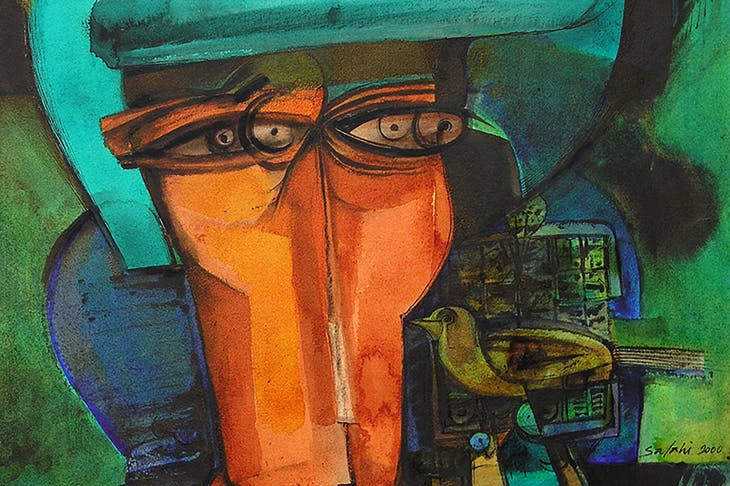Head of the Undersecretary (detail; 2000), Ibrahim El-Salahi.
