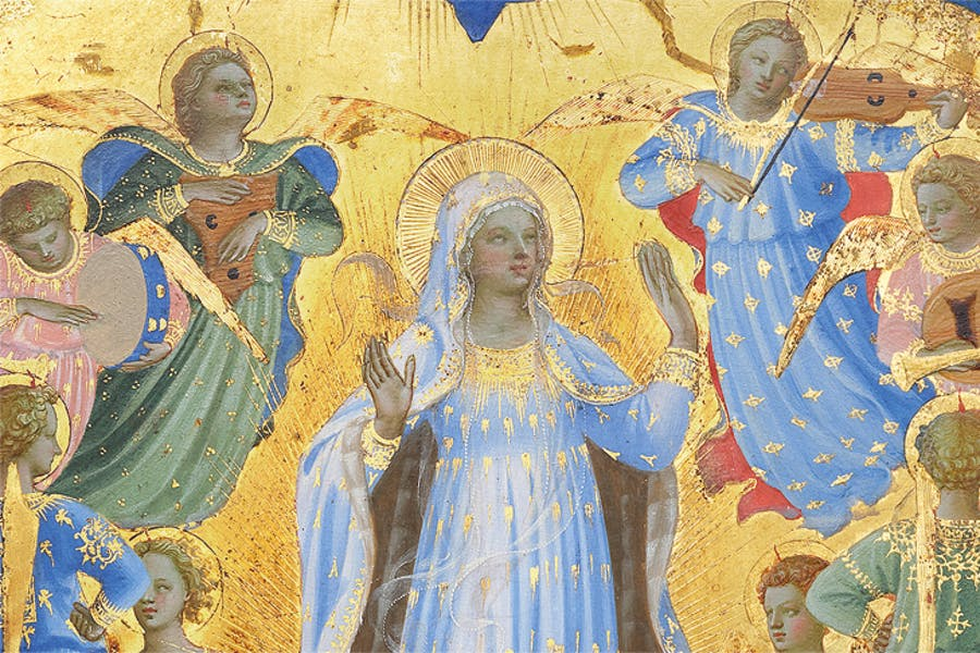 The Dormition and Assumption of the Virgin (detail; 1424–34), Fra Angelico. Isabella Stewart Gardner Museum, Boston.