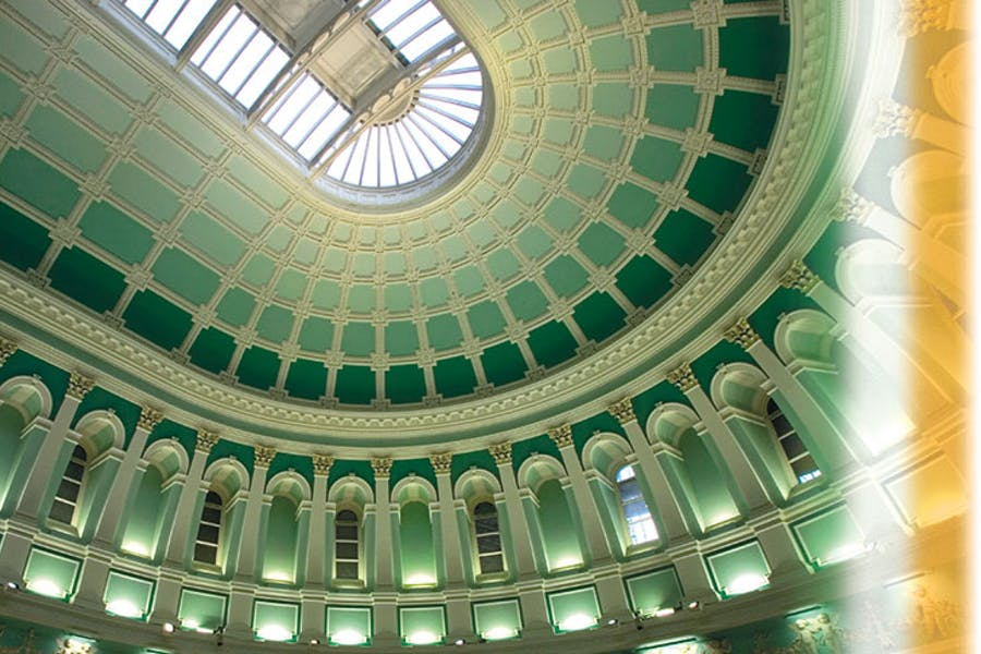 The Reading Room of the National Library of Ireland, Dublin. The library has been allocated €23m by the Irish government to upgrade its facilities.