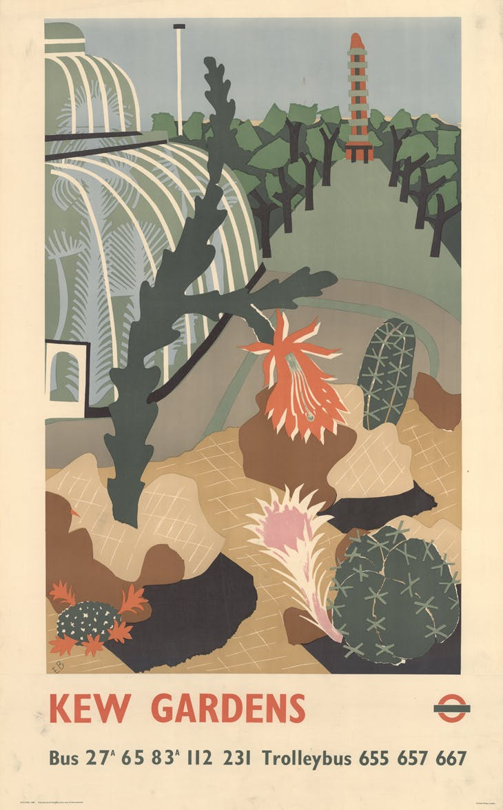 Kew Gardens London Transport poster, Edward Bawden