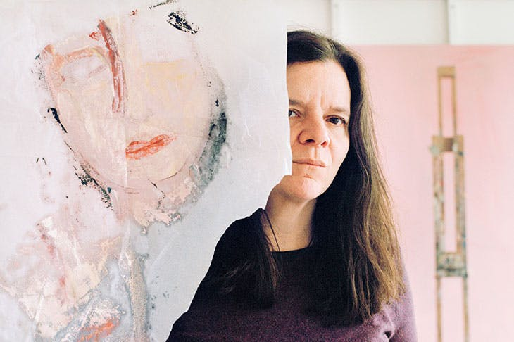 Chantal Joffe photographed in her studio in March 2018.
