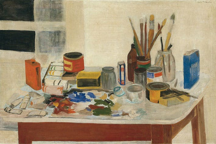 The Painting Table (1954), Jane Freilicher.