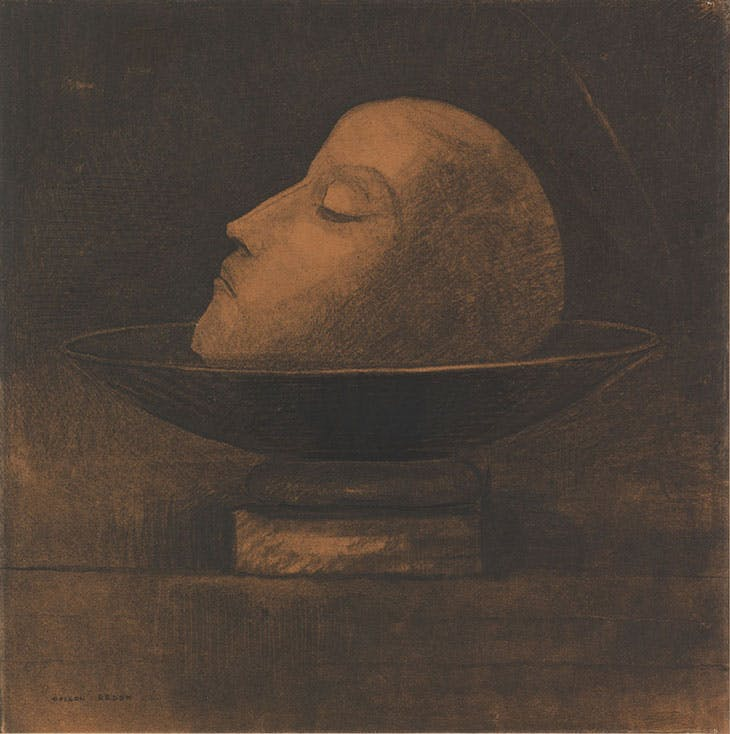 Head of a Martyr on a Dish (St John), Odilon Redon