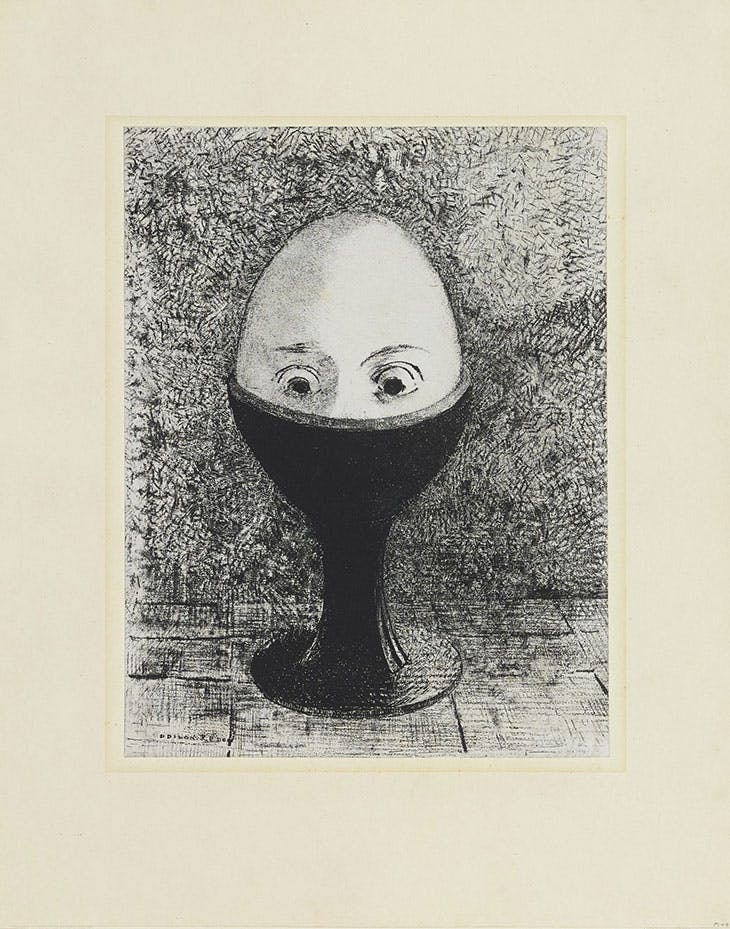 The egg, Odilon Redon