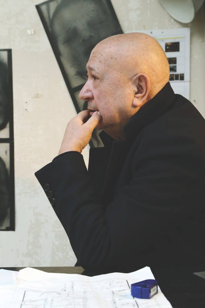 Christian Boltanski in his studio in Paris in March 2018, photo: Elizabeth Young