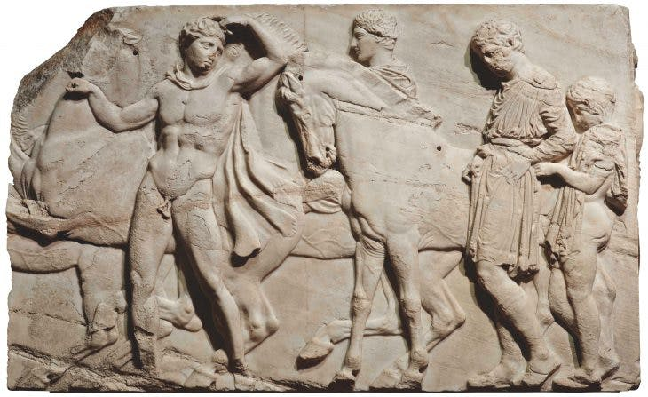 Detail of block from the north frieze of the Parthenon, c. 438–432 BC, the British Museum, London
