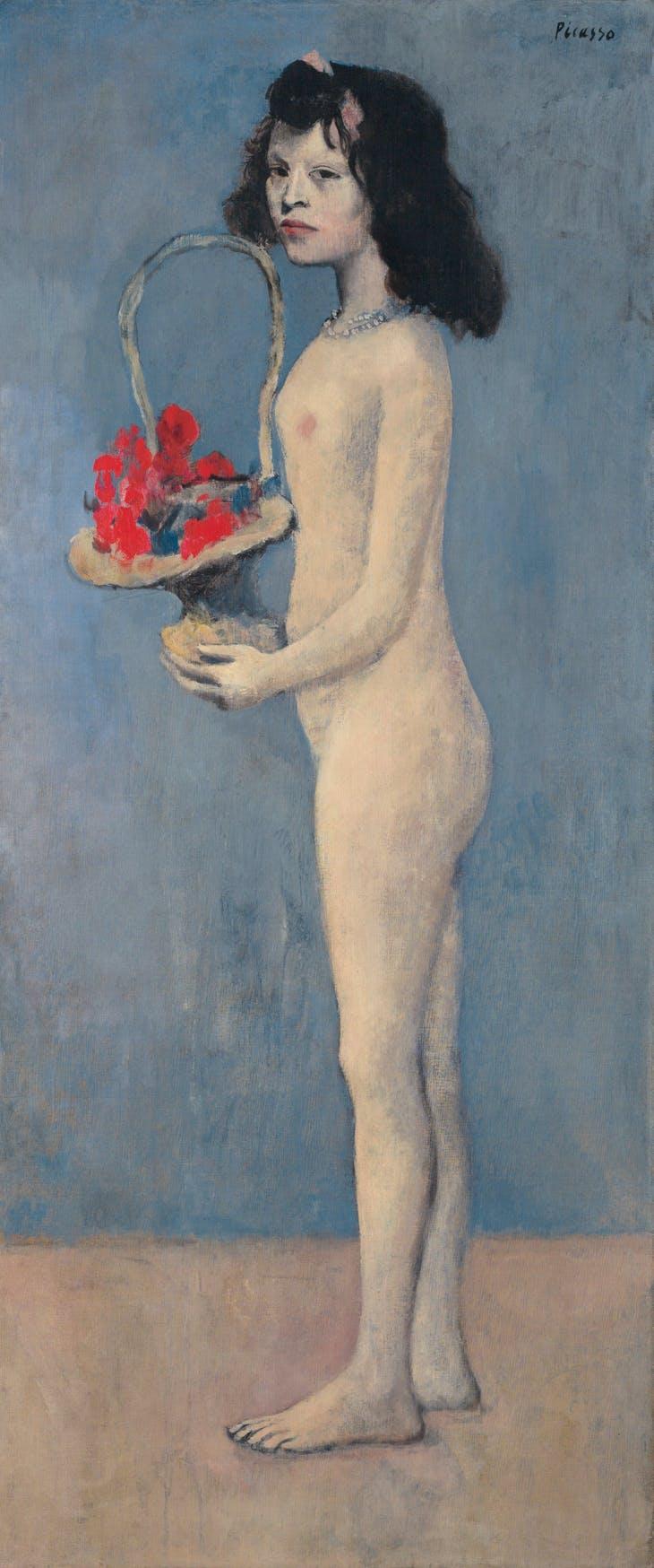 Fillette à la corbeille fleurie (1905), Pablo Picasso. $115,000,000