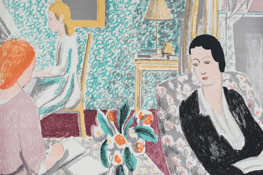 The Schoolroom (detail; 1938), Vanessa Bell. Osborne Samuel, £4,500