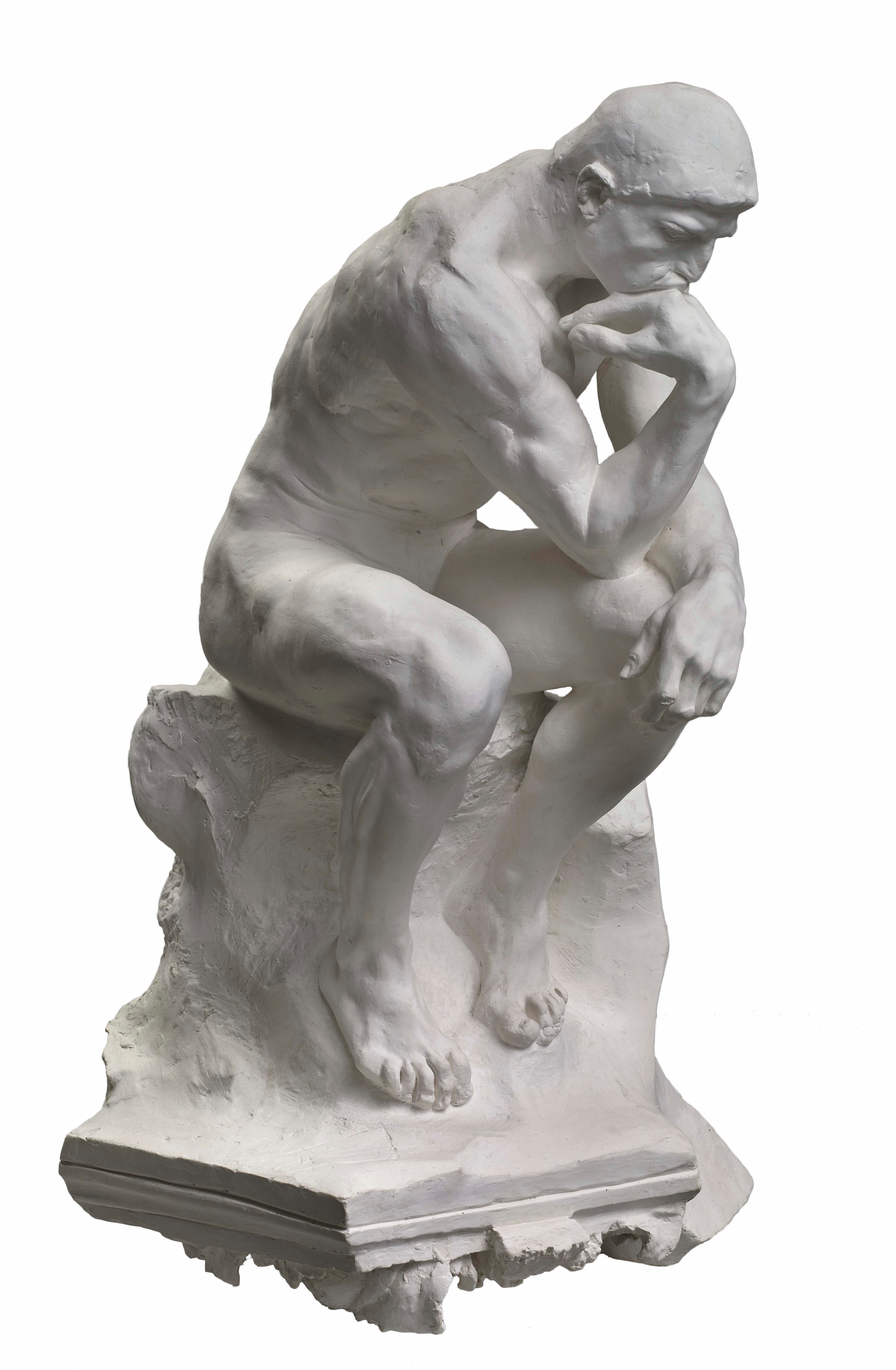 The Thinker, (1881–82), Auguste Rodin.