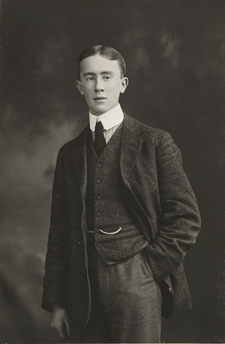 Photo of JRR Tolkien aged 19,
