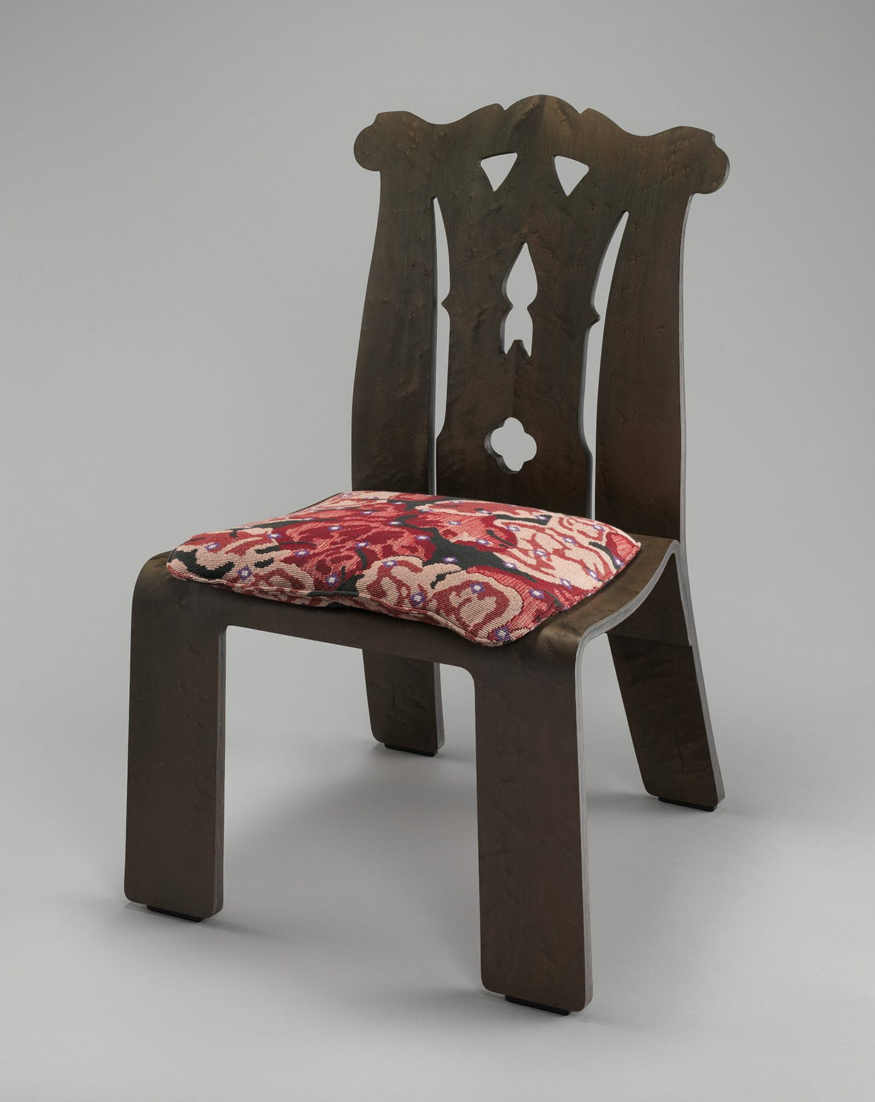 'Chippendale' Chair with 'Tapestry' pattern upholstery, Robert Venturi and Denise Scott Brown