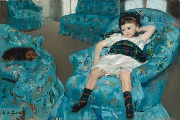 Little Girl in a Blue Armchair, Mary Cassatt