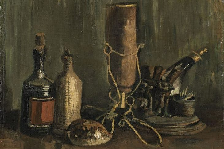 Still Life with Bottles and a Cowrie Shell, Vincent Van Gogh