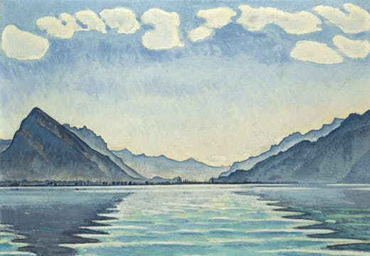 Lake Geneva with symmetrical reflections, Ferdinand Hodler