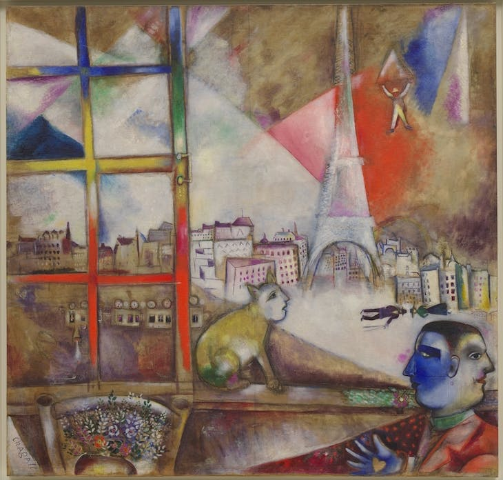 Paris through the Window, Marc Chagall