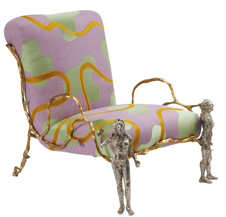 Elle & Lui armchair, Mattia Bonetti