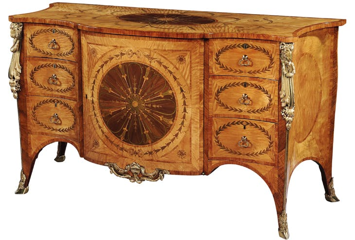 Serpentine commode, Thomas Chippendale.