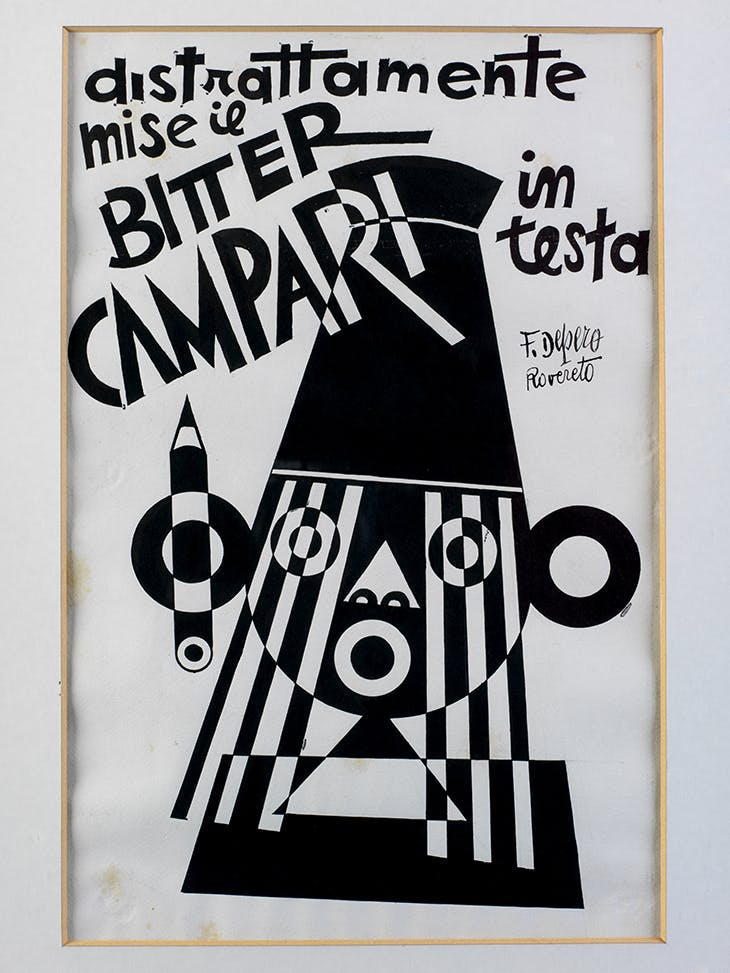 He Distractedly Put the Bitter Campari on his Head, Fortunato Depero