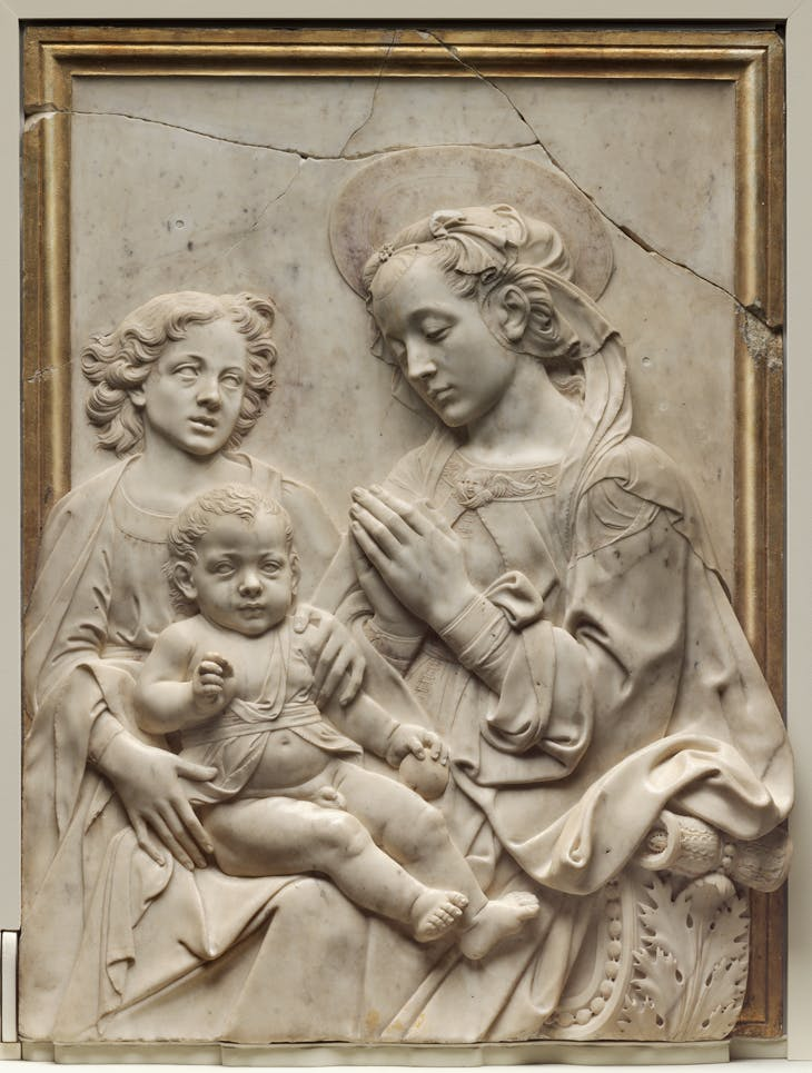 Virgin and Child with Angel, Andrea del Vercocchio and workshop (?)