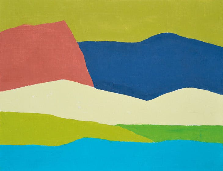 Untitled (2014), Etel Adnan. Private collection.