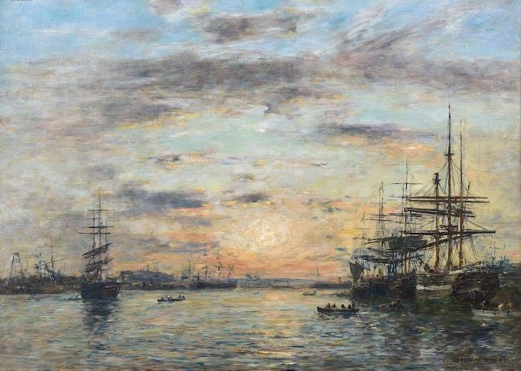The Eure Basin at Le Havre, Eugène Boudin