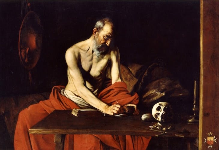 St Jerome Writing (1607–08), Caravaggio