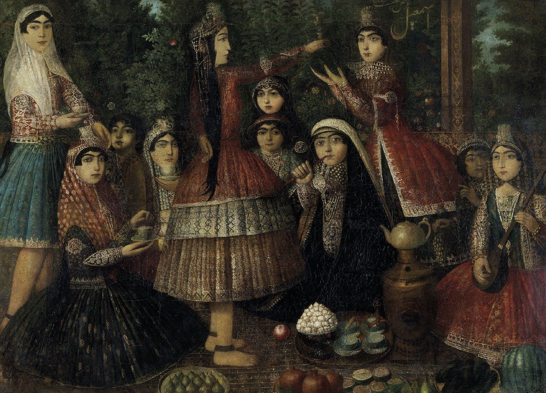 Ladies around a Samovar (c. 1860–75), Isma'il Jalayir. Victoria and Albert Museum, London.