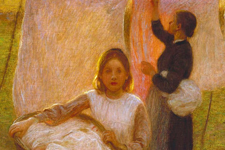 Washing Day (detail; 1899), Edward Stott. Watts Gallery Trust