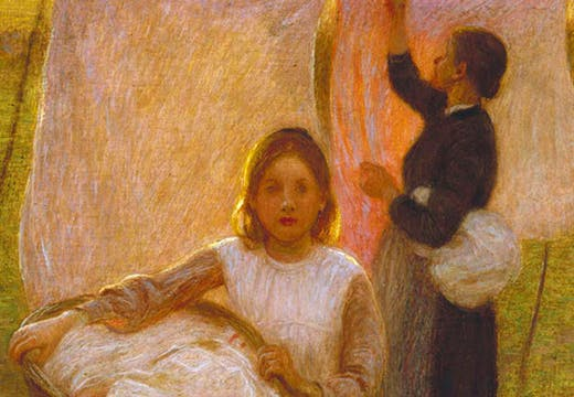 Washing Day (detail; 1899), Edward Stott. Watts Gallery Trust