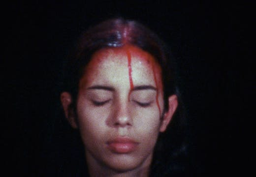 Sweating Blood (1973), Ana Mendieta.