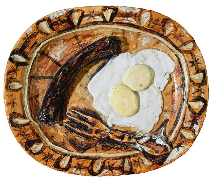 Trompe-l'oeil ceramic (Bottefarra and Eggs), Pablo Picasso