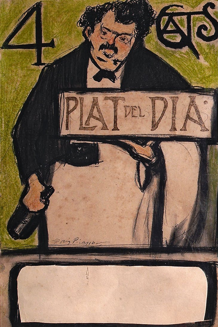 Menu for the Quatre Gats, Dish of the Day, Pablo Picasso