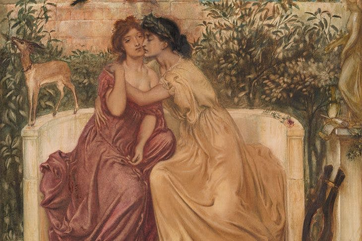 Sappho and Erinna in a Garden at Myteline, Simeon Solomon