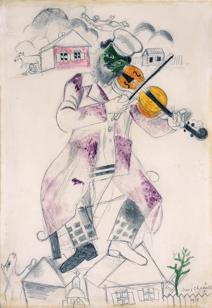 Study for Music (Fourth panel for the State Jewish Chamber Theater, Moscow), Marc Chagall