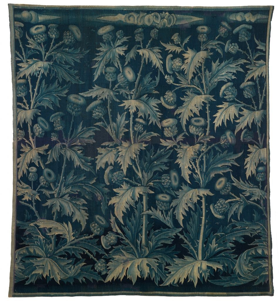 Verdure with Thistles, (c. 1490) Southern Netherlands, probably Brussels or Bruges, Burrell Collection, Glasgow