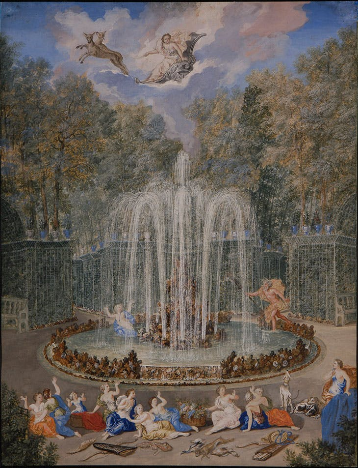 Fountain scene with Alpheus pursuing Arethusa, Jean Cotelle