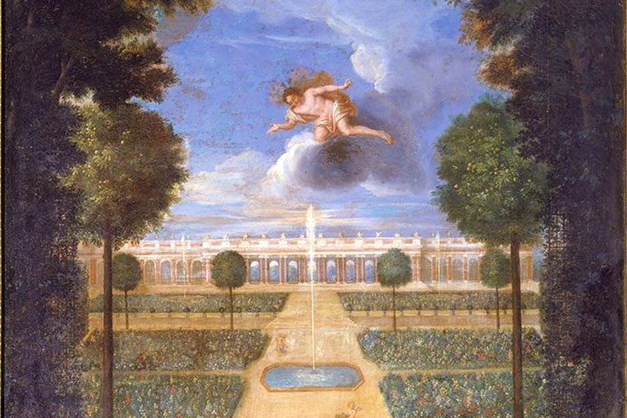 View of the Grand Trianon taken from the beds, with Flora and Zephyr