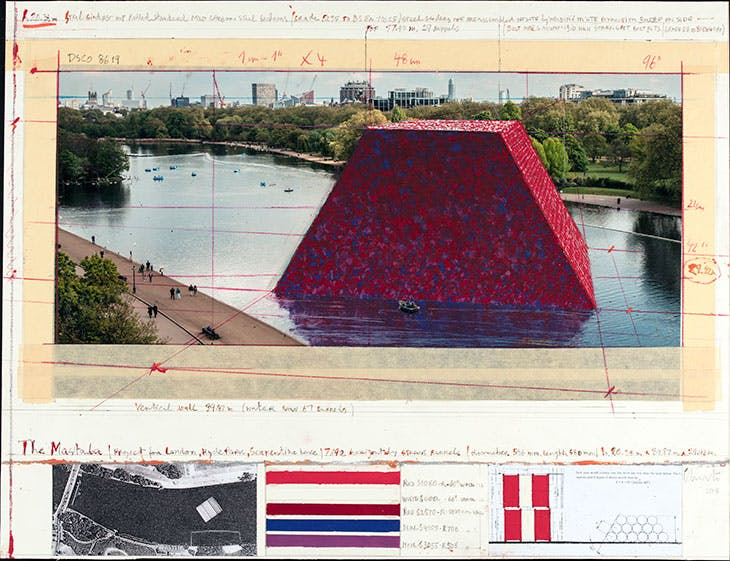 The Mastaba (Project for London, Hyde Park, Serpentine Lake), Christo