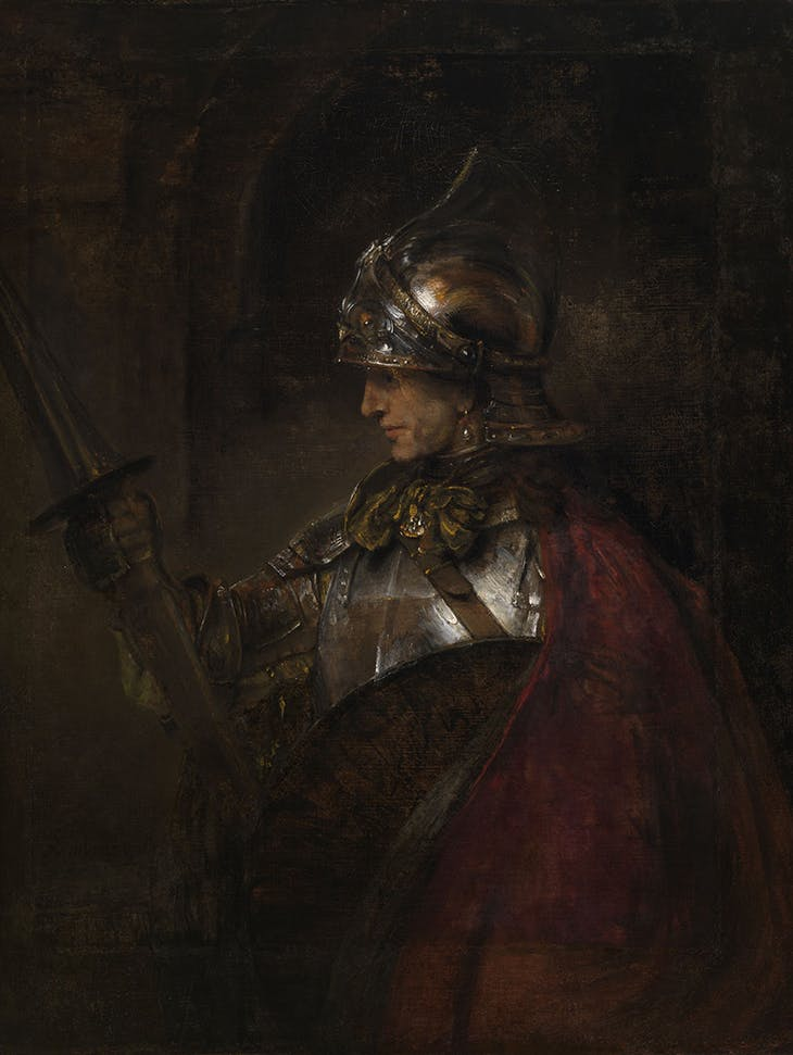 A Man in Armour ('Achilles'), Rembrandt