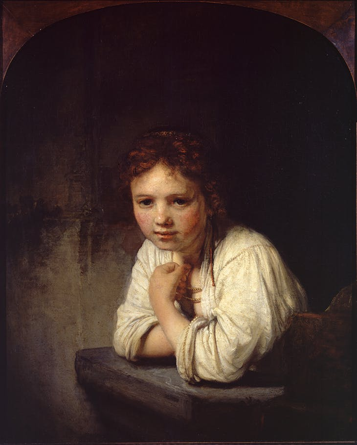 Girl in a Window, Rembrandt