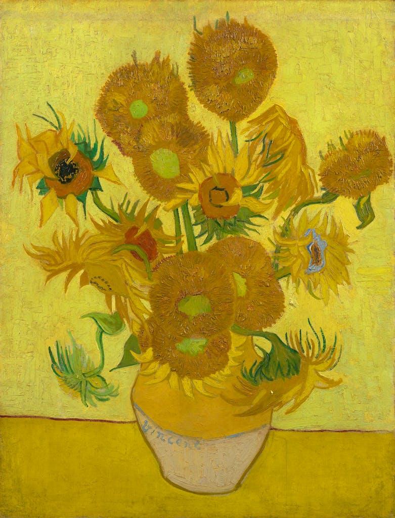 Sunflowers, (1889), Vincent Van Gogh, Van Gogh Museum, Amsterdam (Van Gogh Foundation)