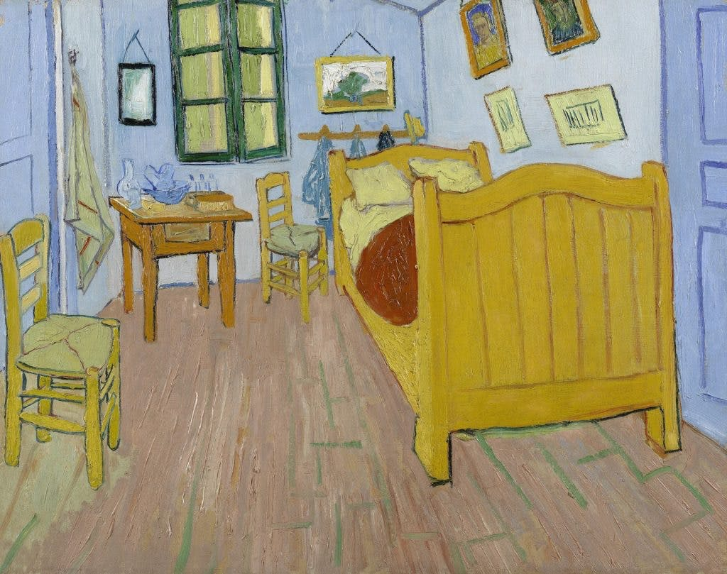 The Bedroom, (1888), Vincent Van Gogh, Van Gogh Museum (Van Gogh Foundation)