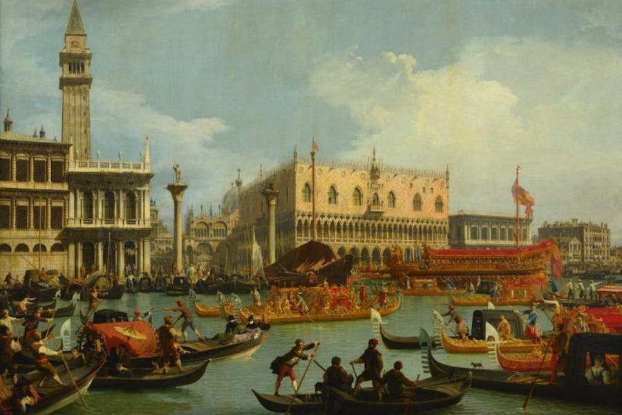 The return of the Bucentaur to the dock in front of the Palazzo Ducale, Canaletto